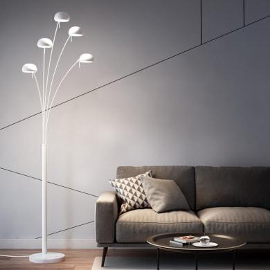 Lampada da terra in metallo, H224cm, 5xINSPIRE