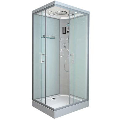 Cabina doccia idromassaggio rettangolare Klios 70 x 90 cm