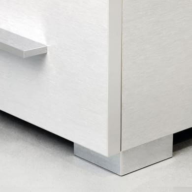 Set piedini EMUCA plastica grigio verniciato  L 80 mm x P 80 mm  H 4.5 cm 20 pezzi