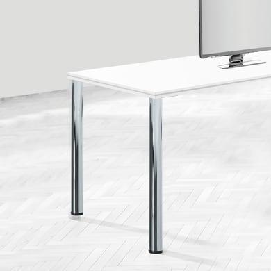 Gamba mobili EMUCA acciaio bianco verniciato Ø 60 mm x H 73 cm 4 pezzi