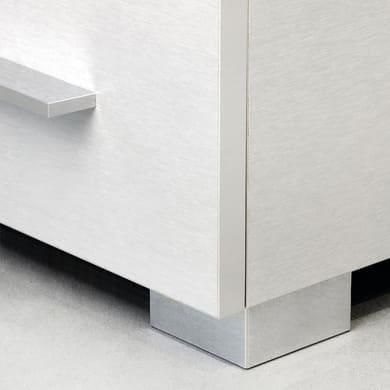 Gamba mobili EMUCA plastica grigio verniciato  L 80 cm x H 1.5 cm 20 pezzi