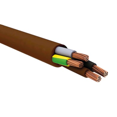 Cavo elettrico marrone 4 fili x 1,5 mm² 5 m LEXMAN Matassa