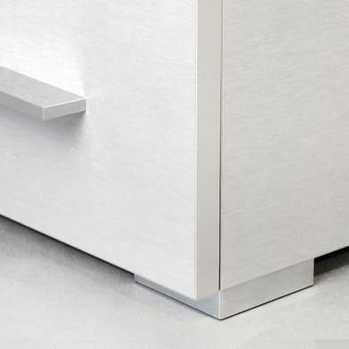 Gamba mobili EMUCA plastica grigio verniciato  L 80 cm x H 3 cm 20 pezzi