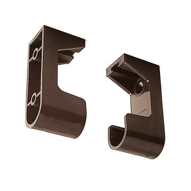Supporto tubo appendiabiti L 3 x P 1.5 cmmarrone