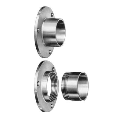 Supporto tubo appendiabiti L 4.5 x H 4.5 x P 2 cmgrigio / argento