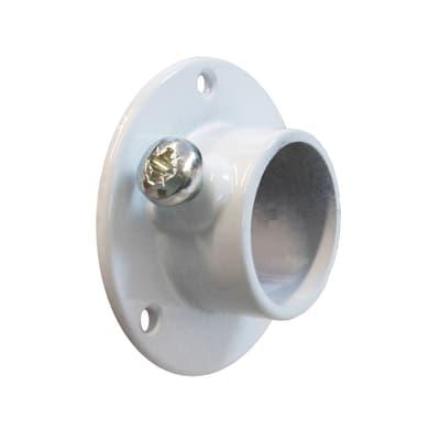 Supporto tubo appendiabiti L 5.5 x H 5.5 x P 2 cmbianco