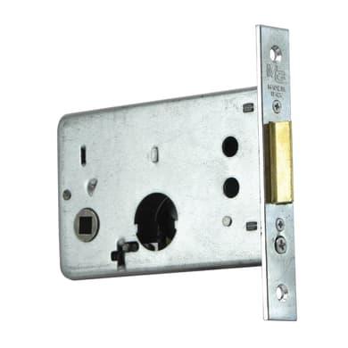 Serratura a incasso cilindro per cancello o rete, entrata 6.5 cm, interasse 43 mm sinistra e destra