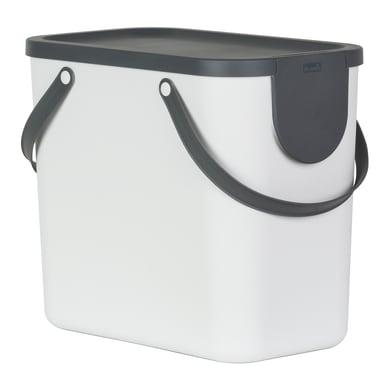 Pattumiera per raccolta differenziata manuale bianco 25 L
