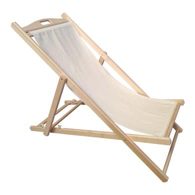 Sedia a sdraio in legno naturale