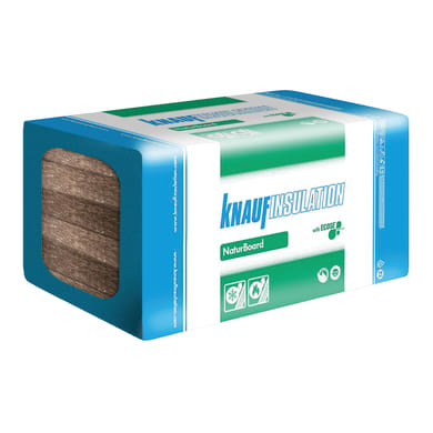 Lana di roccia KNAUF INSULATION Naturboard Forte DP11 0.6 x 1 m, Sp 80 mm