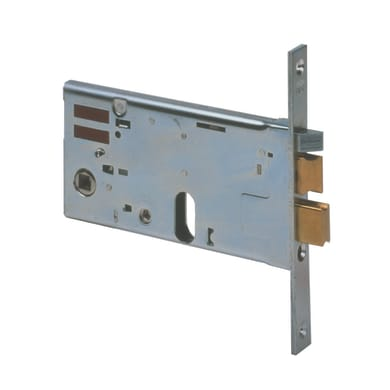 Serratura a incasso cilindro per cancello o rete, entrata 8 cm, interasse 67 mm destra