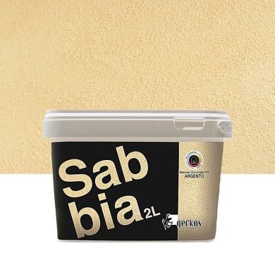 Pittura decorativa GECKOS Sabbia 2 l marrone cioccolato 6 effetto sabbiato