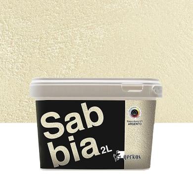Pittura decorativa GECKOS Sabbia 2 l bianco avorio 5 effetto sabbiato