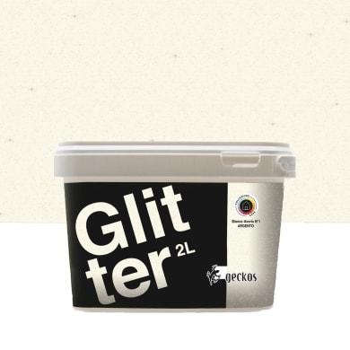 Pittura decorativa GECKOS Glitter 2 l bianco avorio 1 effetto paillette