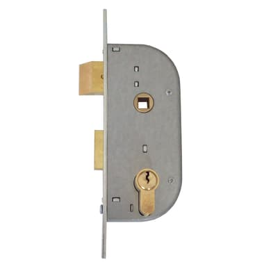 Serratura a incasso cilindro per cancello o rete, entrata 3.2 cm, interasse 62 mm sinistra e destra