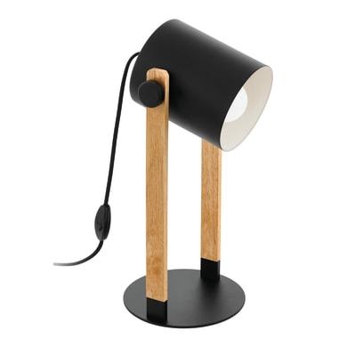 Comodino o soggiorno lampada Hornwood nero, in metallo, E27 MAX 28W IP20 EGLO
