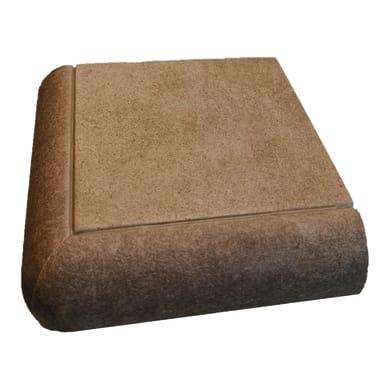 Bordo angolare Cement H 4 cm marrone