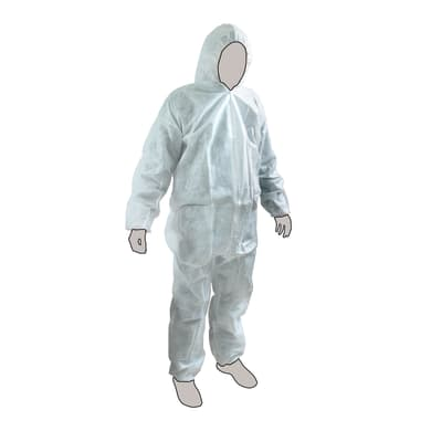 Tuta di protezione da lavoro bianco tg xl