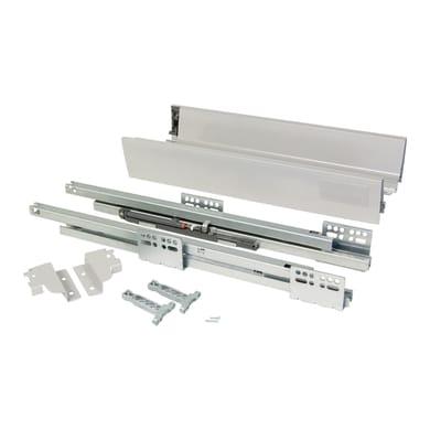 Cassetto EMUCA Vantage-Q chiusura soft L 1 x H 8.3 x P 40 cm grigio metallizzato