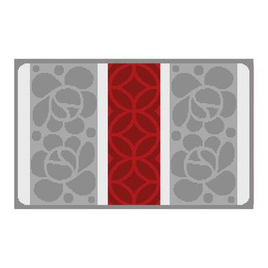 Tappeto bagno rettangolare Angel in polipropilene rosso 100 x 60 cm