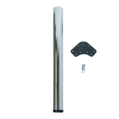 Gamba mobili EMUCA acciaio grigio satinato Ø 60 mm x H 89 cm