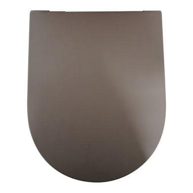 Copriwater rettangolare Dedicato per serie sanitari Tuttoevo termoindurente marrone