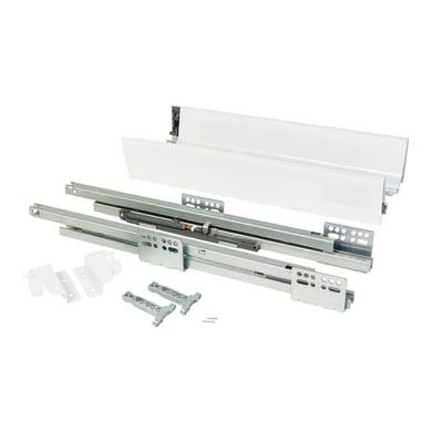 Cassetto EMUCA Vantage-Q chiusura soft L 1 x H 8.3 x P 35 cm bianco