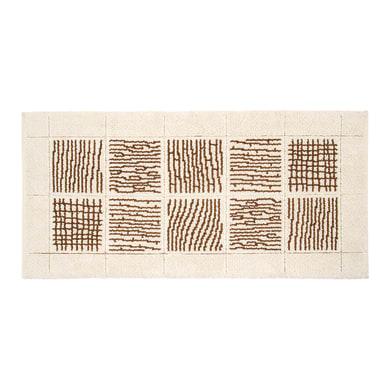Tappeto bagno rettangolare Savana in cotone beige 110 x 55 cm
