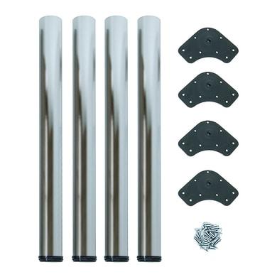 Gamba mobili EMUCA acciaio grigio satinato Ø 60 mm x H 73 cm 4 pezzi