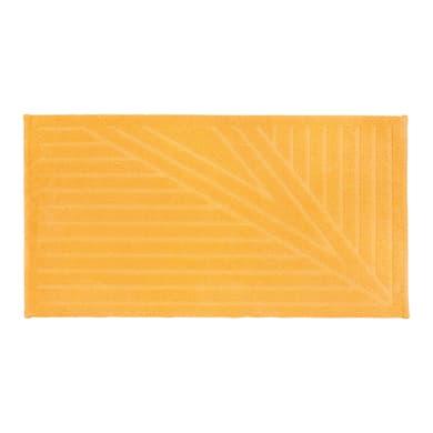 Tappeto bagno rettangolare Bianca in 100% cotone giallo 100 x 55 cm
