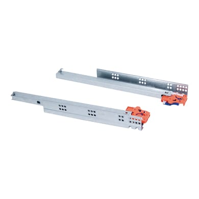 Guida di scorrimento per cassetto EMUCA a rulli chiusura soft grigio / argento 34 x 45  mm
