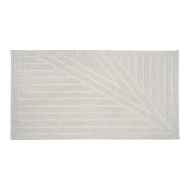 Tappeto bagno rettangolare Bianca in 100% cotone bianco 100 x 55 cm