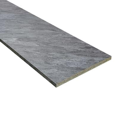 Piano di lavoro in legno argento spatolato L 420 x P 60 cm, spessore 4 cm