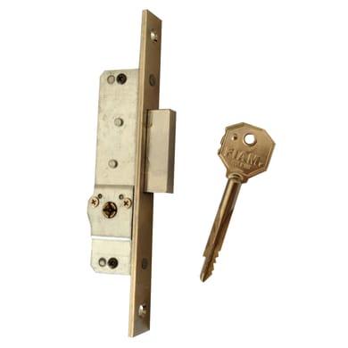 Serratura a incasso chiusura per porta garage o cantina, entrata 1.6 cm, interasse 30 mm sinistra e destra