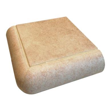 Bordo angolare Cement L 10 x 4 cm beige
