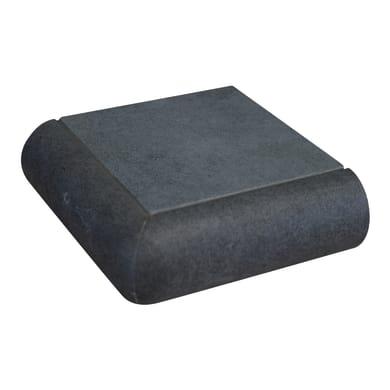 Bordo angolare Cement L 10 x 4 cm grigio