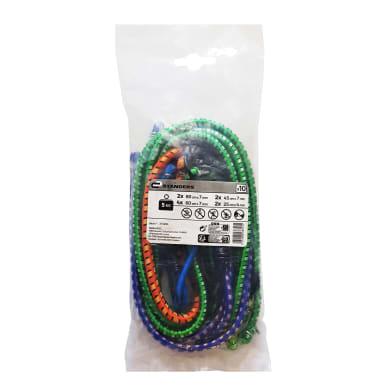 Cavo elastico blu e verde e arancione L 1 m Ø 4 mm