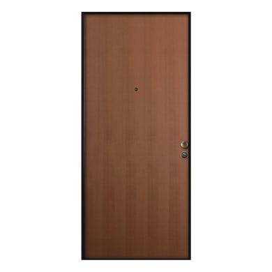 Porta blindata Strong noce L 85 x H 210 cm sinistra