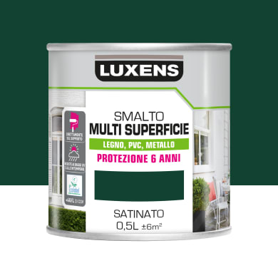 Pittura LUXENS acrilico verde ral6005 0.5 L