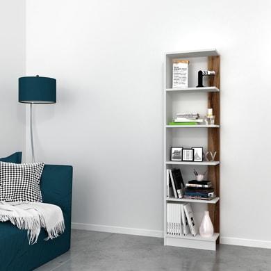 Libreria Pupis L 45 x P 22 x H 170 cm bianco