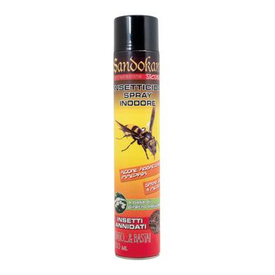 Insetticida spray SANDOKAN schiumogeno per Vespe e Calabroni 750 ml