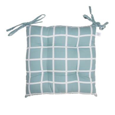 Cuscino per sedia azzurro 40x40 cm