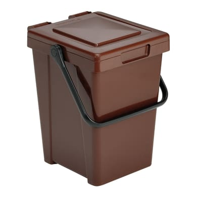 Pattumiera Minimax  manuale marrone 35 L