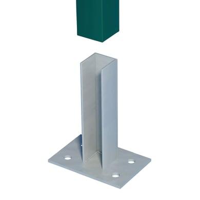 Supporto per fissare FERRO BULLONI in acciaio galvanizzato da fissare grigio L 10x H 21