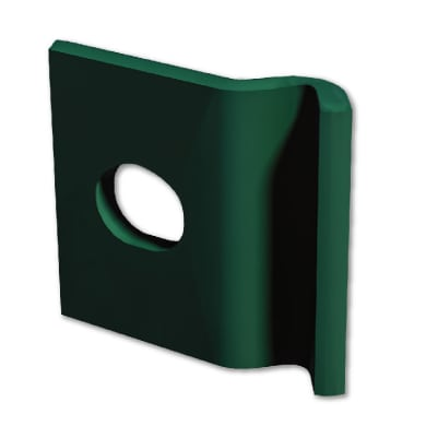 Piastra di montaggio in acciaio galvanizzato plastificato L 3,2 x x H 1 cm