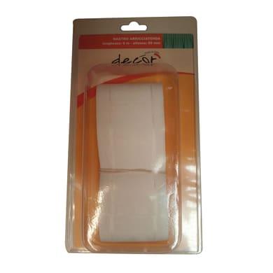 Nastro fettuccia per tenda bianco 6.5 cm x 6 m