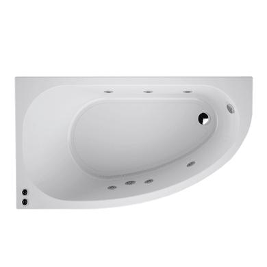 Vasca idromassaggio asimmetrica SANYCCES Tripoli Confort 90 x 160 cm bianco