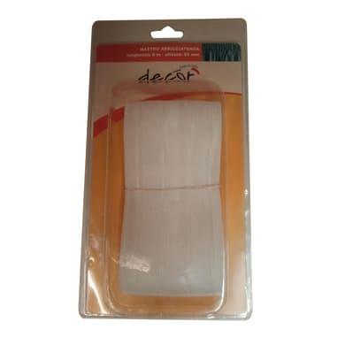 Nastro fettuccia per tenda trasparente 8 cm x 6 m