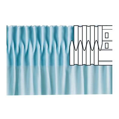 Nastro fettuccia per tenda bianco 8 cm x 6 m