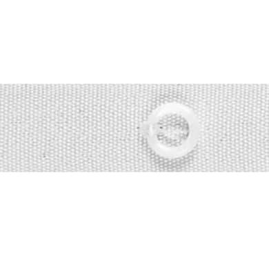 Fettuccia per tende a pacchetto con anelli bianco 1.6 cm x 6 m